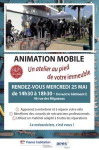 pOISSY 02 Bicyclaide AFFICHE Atelier vélo 25 mai 2016